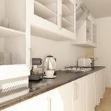 Renda da cozinha do contempor?neo 3D fotos de stock royalty free