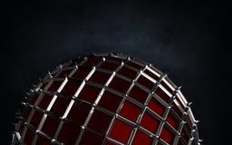 Renda da esfera com ond das pontas o fundo escuro do grunge Fotografia de Stock