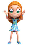 Renda da menina com pose engraçada Imagem de Stock