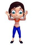 Renda da menina com pose engraçada Imagem de Stock Royalty Free
