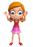 Renda da menina com pose engraçada Imagens de Stock Royalty Free