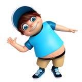 Renda da pose engraçada do rapaz pequeno Fotografia de Stock Royalty Free