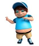 Renda de Little Boy com apontar a pose Imagem de Stock