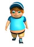 Renda de Little Boy com pose de passeio Imagens de Stock