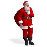 Renda del Babbo Natale - natale allegro illustrazione vettoriale