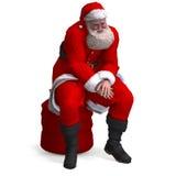 Renda del Babbo Natale - natale allegro Fotografie Stock
