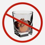 Renda del segno di proibizione con l'alcool Immagine Stock Libera da Diritti