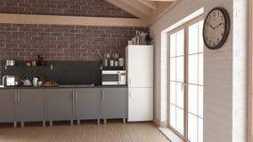 Renda della cucina del contemporaneo 3D illustrazione di stock