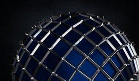 Renda della sfera con il ond di punte i precedenti scuri di lerciume illustrazione vettoriale