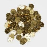 Renda di grande mucchio delle monete fotografia stock