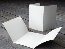 Renda do molde vazio do tamanho dobrável em três partes do folheto A4 Fotografia de Stock