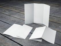 Renda do molde vazio do tamanho dobrável em três partes do folheto A4 Imagem de Stock Royalty Free