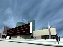 Renda: edifícios modernos Ilustração Stock