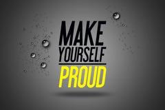 Renda fiero - sport di pubblicità allenamento motivazionale Fotografie Stock