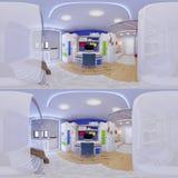 Renda 360 graus esféricos, panorama sem emenda Foto de Stock Royalty Free