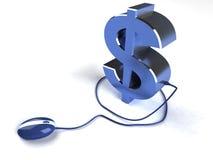 Renda i soldi in linea Immagini Stock Libere da Diritti