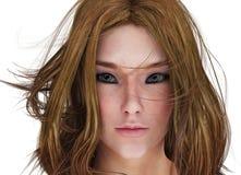 Renda il ritratto della donna immagini stock