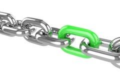 Renda la catena dell'acciaio inossidabile Immagine Stock