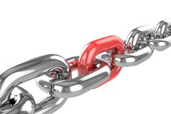 Renda la catena dell'acciaio inossidabile Fotografia Stock