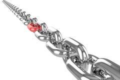Renda la catena dell'acciaio inossidabile Fotografia Stock Libera da Diritti