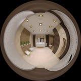 Renda o panorama 360 esférico do banheiro Foto de Stock