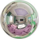 Renda o panorama sem emenda do interior da sala de visitas Fotografia de Stock