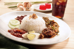 Rendang Chicken set Stock Photo