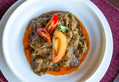 Rendang Daging Royaltyfria Bilder