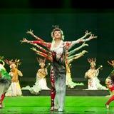 Rendement chinois de danse folklorique Image libre de droits