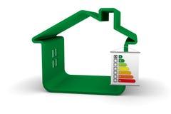 Rendement d'énergie de construction une analyse Photos stock