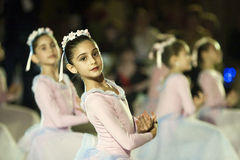 Rendement de ballet à la bille de Vienne à Bucarest Image stock