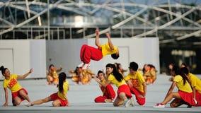 Rendement de danse pendant le NDP 2012 Photographie stock libre de droits