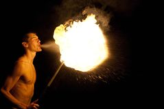 Rendement de Fire-eater photos libres de droits