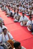 Rendement de groupe de la musique traditionnelle indienne images stock
