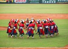 Rendement indigène de danse de Taiwan Photographie stock