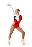 Rendement par la jeune aérobic d'athlète Photographie stock libre de droits