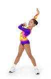 Rendement par la jeune aérobic d'athlète Photographie stock