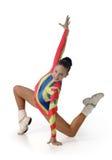 Rendement par la jeune aérobic d'athlète Image libre de droits
