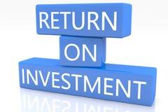 Rendement van investering Stock Foto