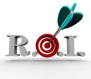 Rendement van Investering - Pijl en Doel Royalty-vrije Stock Fotografie