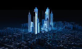 Render Abstract city Stock Images