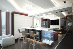 Render of the apartment Stock Photography