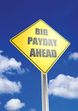 Big payday ahead Royalty Free Stock Images
