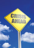 Crisis ahead. A render artwork with blue sky background stock photo