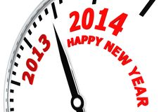 New year 2014. A render artwork with  white as background Stock Images