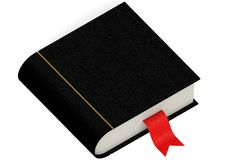 Black book with red bookmark Stock Images