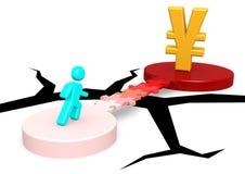 Puzzle bridge to Yen Stock Photo
