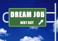 Next exit dream job Royalty Free Stock Photos
