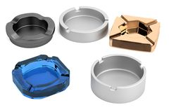 Render of ashtrays Stock Photos