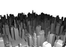Render big city Stock Images